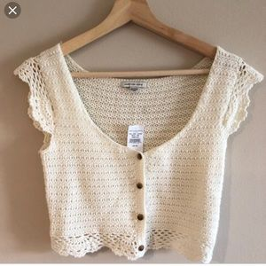 American Eagle Crochet Crop Top